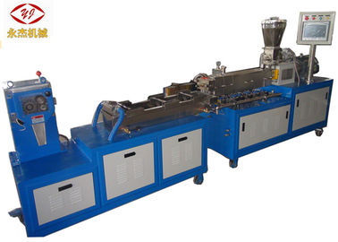 Cina Air Strand Lab Twin Screw Extruder Granulator Plastik Mesin Tenaga Heater 16kw pabrik